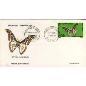 papillon-epiphora-albida-druce-timbre-et-obliteration-1er-jour-de-republique-centrafricaine