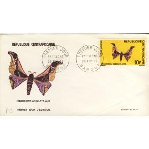 papillon-holocerina-angulata-aur-timbre-et-obliteration-1er-jour-de-republique-centrafricaine