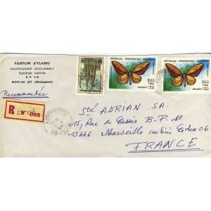 papillon-troqonoptera-croesus-et-cathedrale-cologne-sur-lettre-de-madagascar