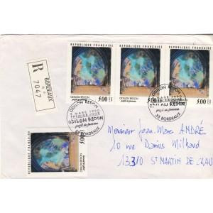 odilon-redon-profil-de-femme-timbre-et-obliteration-temporaire