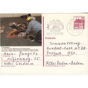 peinture-au-sol-20-21-aout-1988-entier-postal-allemand