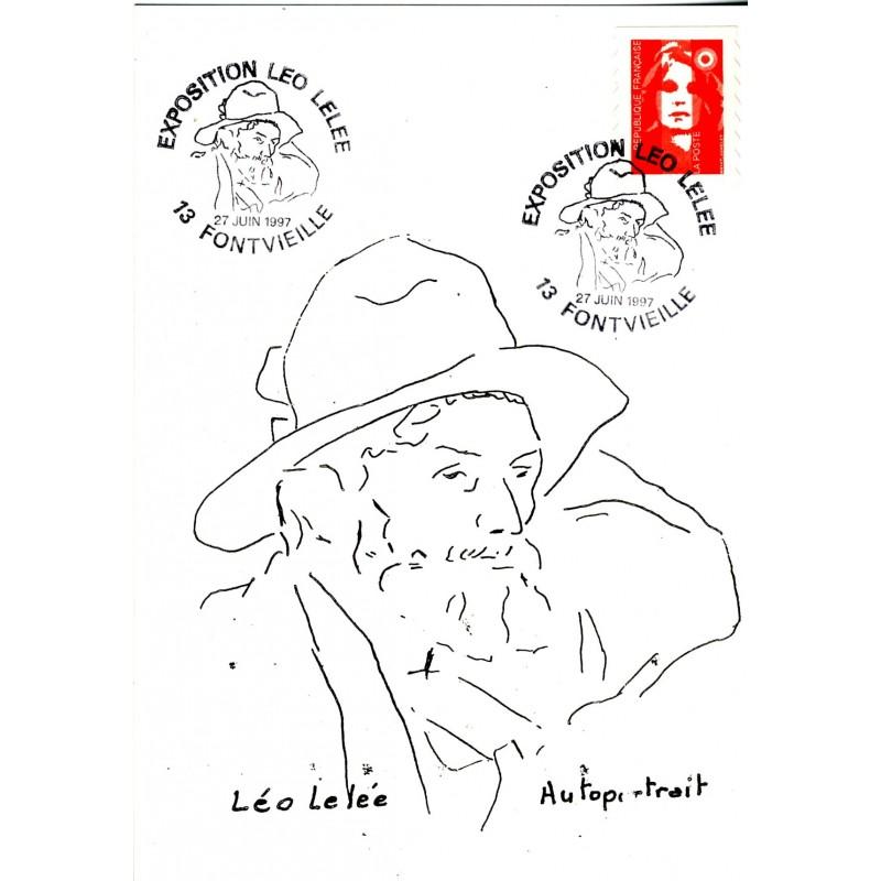 exposition-leo-lelee-cachet-temporaire-et-carte-illustres-de-l-autoportrait