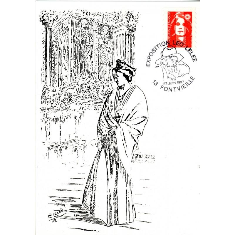 exposition-leo-lelee-cachet-temporaire-avec-autoportrait-sur-carte-illustree-arlesienne