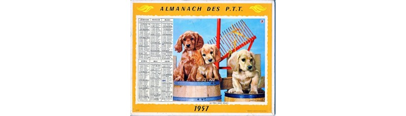 CALENDRIERS ANNEES 50